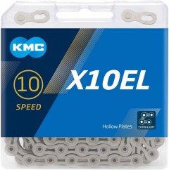 Цепь велосипедная KMC X10-1EL 1/2х11/128х114L 10 ск. Серебристая (00856)