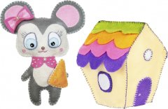 Набор для творчества ВДВ Создай игрушку из фетра 2 шт (КІ-01)