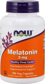 Аминокислота Now Foods Мелатонин 3 мг 180 порошковых капсул (733739032577)