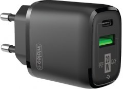 Сетевое зарядное устройство Intaleo TCGQPD220 Черный (1283126509995)