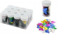 Набор декоративных пайеток Angel Gifts Бабочки 19х22х1 мм 12 шт Разноцветный (Я44292_AG1170_12)