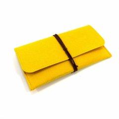 Женский клатч-портмоне из фетра Cashmere S1003 Желтый