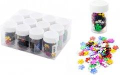 Набор декоративных пайеток Angel Gifts Цветочки Ø 14 мм 12 шт Разноцветный (Я44289_AG1185_12)