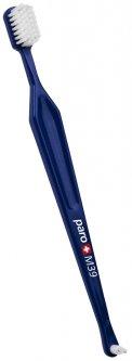 Зубная щетка Paro Swiss M39 средней жесткости, Синяя (7610458097167-dark blue)