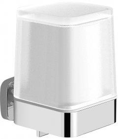 Дозатор для жидкого мыла VOLLE Teo 15-88-422 c нижним нажимом матовое стекло/хром