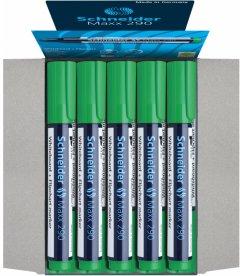 Набор маркеров для досок и флипчартов Schneider Maxx 290 1-3 мм Зеленый 10 шт (S129004)