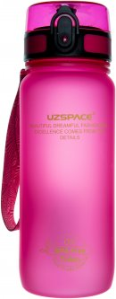 Фляга для воды Uzspace Frosted 650 мл Розовая (6955482370957)