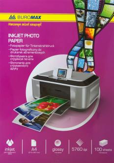 Фотобумага Buromax глянцевая 180 г/м2 А4 100 листов (ВМ.2220-4100)