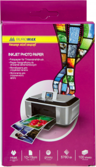 Фотобумага Buromax глянцевая 200 г/м2 10х15 см 100 листов (ВМ.2230-5100)