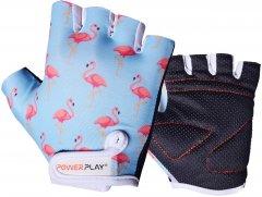 Велоперчатки детские PowerPlay 001 Фламинго 2XS Голубые (001_Blue_Flamingo_2XS)