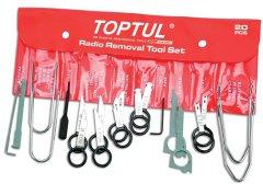 Набор съемников для автомагнитол Toptul JGAA2001 20 ед.