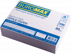 Бумага офисная Buromax А5 80 г/м² 500 листов Белая (BM.27111500)