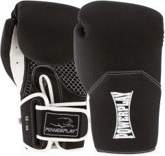 Боксерские перчатки PowerPlay 3011 Черно-белые 10 унций (PP_3011_10oz_Bl/White)