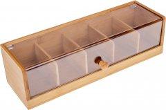 Органайзер для столовых принадлежностей на 5 отсеков Lora NRW44STAY 35.8х13х10 см (72-134)