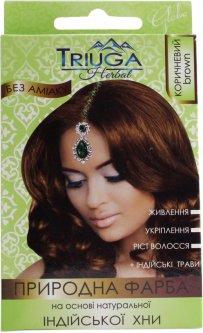 Натуральная краска для волос на основе хны Triuga Herbal Коричневая 25 г (8908003544212)