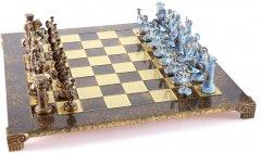 Шахматы Manopoulos Греко-римские в деревянном футляре (S11BBRO)