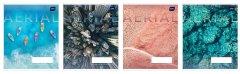 Набор тетрадей ученических Interdruk Premium Aerial View 8 шт (по 2 каждого дизайна) А5+ в клетку 12 листов (278913-8)