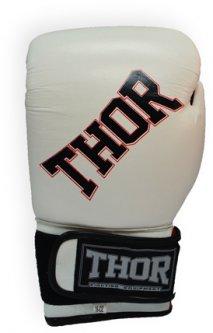 Перчатки боксерские Thor Ring Star (Leath.) 12 унций White/Red/Black (536/01(Le)WHITE/RED/BLK 12 oz.)