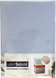 Простынь на резинке LightHouse 160х200+25 Голубая (2200000546555)
