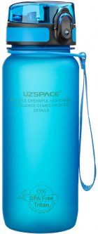 Бутылка для воды Uzspace Frosted 650 мл Синяя (3037BL)