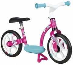 Беговел детский Smoby Toys металлический с подножкой розовый (770123) (3032167701237)