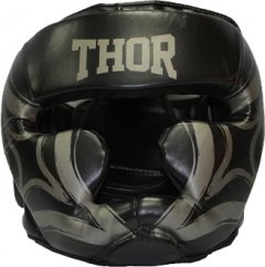 Боксерский шлем Thor 727 Cobra L Black (727 (Leather) BLK L)