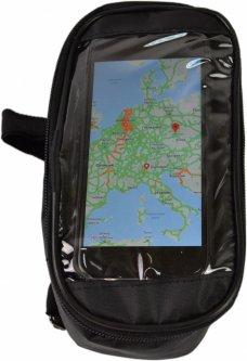 Велосипедная сумка на раму Poputchik под смартфон 20х12х10 см Черная (MFV63306-001)