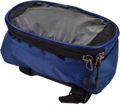 Велосипедная сумка на раму Poputchik под смартфон 20х12х10 см Синяя (MFV63306-002)