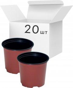 Упаковка горшков для рассады Modiform Терракотовых 0.69 л x 20 шт (2020071604)