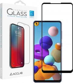 Защитное стекло ACCLAB Full Glue для Samsung Galaxy A21s Black (1283126508547)