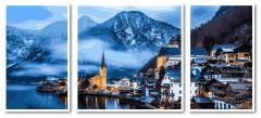 Картина модульная по номерам Babylon Зимняя Австрия 50*110 см 3 модуля (в коробке) арт.VPT051