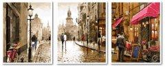 Картина модульная по номерам Babylon Краски вечернего города 50*150 см 3 модуля (в коробке) арт.VPT027