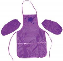 Фартук Cool For School с нарукавниками Фиолетовый (CF61490-12)