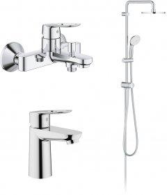 Набор смесителей GROHE BauLoop ShowerSys 26129005 (23337000+23603000+27389002)