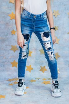 Джинсы A-yugi Jeans 164 см Синий (2125000544939)
