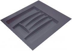 Лоток для столовых приборов Hafele пластиковый 500-550 мм Антрацитовый (556.46.306)