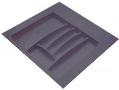 Лоток для столовых приборов Hafele пластиковый 600 мм Антрацитовый (556.46.307)