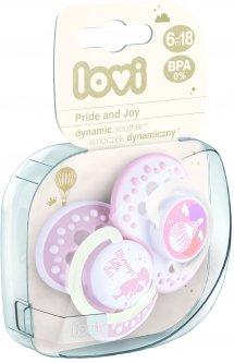 Пустышка Lovi Pride & Joy силиконовая динамическая 6-18 мес 2 шт (22/846girl)