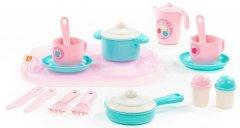 Набор детской посуды Polesie Хозяюшка с подносом на 2 персоны 19 элементов (4810344080486)
