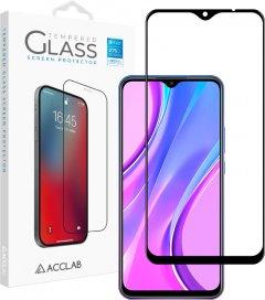 Защитное стекло ACCLAB Full Glue для Xiaomi Redmi 9 Black (1283126508813)