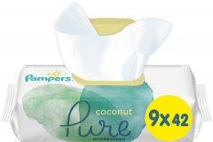 Детские влажные салфетки Pampers Pure Coconut 378 шт (8001841709017)