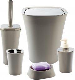 Набор аксессуаров для ванной комнаты PLANET Papillon 5 предметов латте