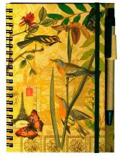 Эко-блокнот на резинке Malevaro Птички с ручкой линия 60 листов (41139)