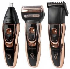Мужской триммер бритва для стрижки волос и бороды на аккумуляторная ProGemei Gold GM-595