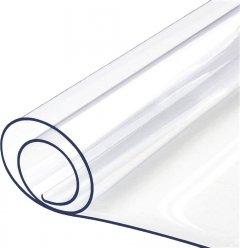 """Гибкое прямоугольное покрытие для стола Mindo """"Мягкое стекло"""" 80 х 120 х 0.2 см Прозрачное (md7005)"""