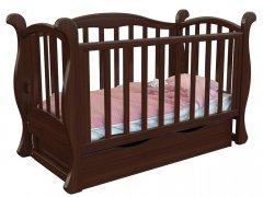 Детская кроватка Angelo Lux-6 Темный орех (11016)