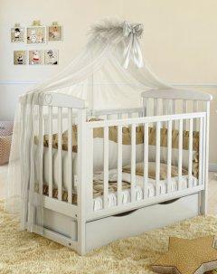 Детская кроватка Angelo Lux-7 Белый (11017)