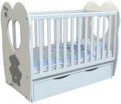 Детская кроватка Angelo Lux-3 Светло-серый (11023)