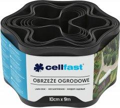 Газонный бордюр Cellfast волнистый 10x900 см Черный (30-031H)
