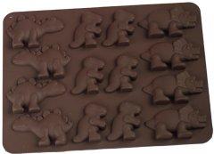 Силиконовая форма для шоколада MYS Динозавр Коричневая (MYS-48235)